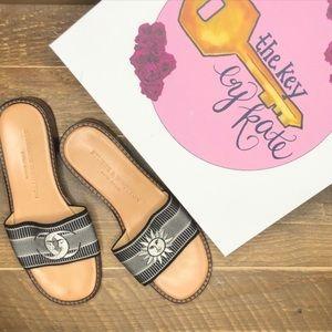 Stubbs & Wootton Moon Sun Slide Sandals Leather
